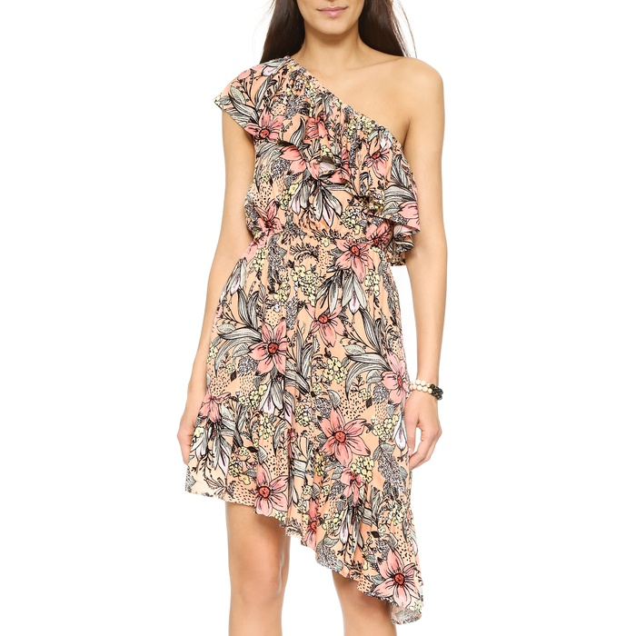 Best Spring Dresses Under $100 - MinkPink Wattle Wonder Ruffle One Shoulder Dress