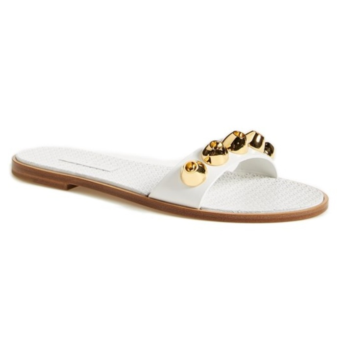 Best Winter Beach Break Shoes - Miu Miu Studded Sandal
