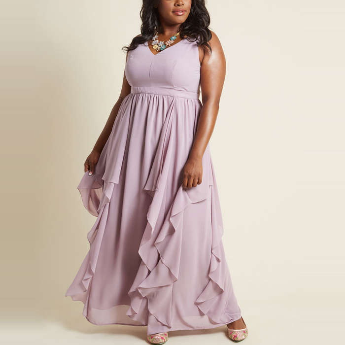 ModCloth As Ruffles Ripple Maxi Dress