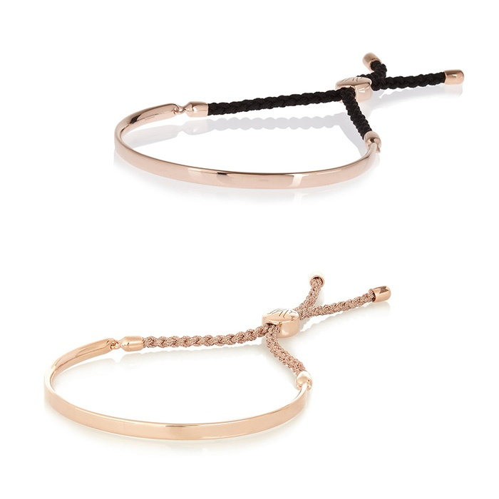 Best This Year's Best Mother's Day Gifts - Monica Vinader Fiji rose gold-plated bracelet in Gold and Black
