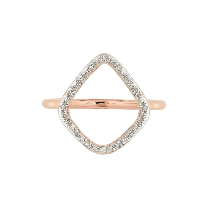 Best Diamond Jewelry Under $500 - Monica Vinader Riva Diamond Hoop Ring