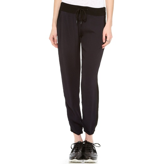 Best Track Pants - Monrow Crepe Basics Track Pants