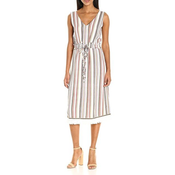Best Amazon Dresses Under $150 - Moon River Women's Sleeveless Tunic Dress with Waist Tie and Fringed Hem