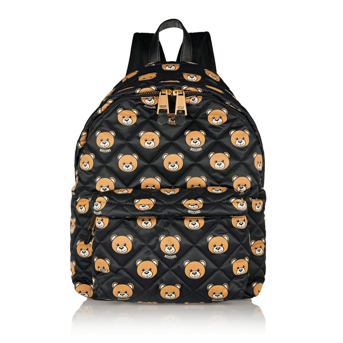 Best Trending Backpacks - Moschino Leather-Trimmed Printed Quilted Shell Backpack