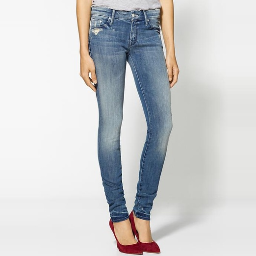 Best Ripped Jeans - MOTHER The Looker Skinny Jeans