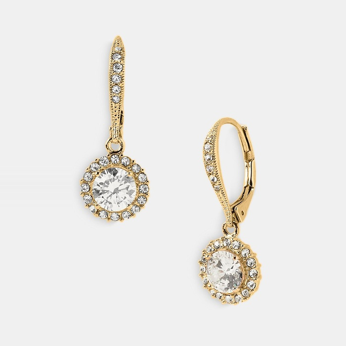 Best Bridal Earrings - Nadri Cubic Zirconia Drop Earrings