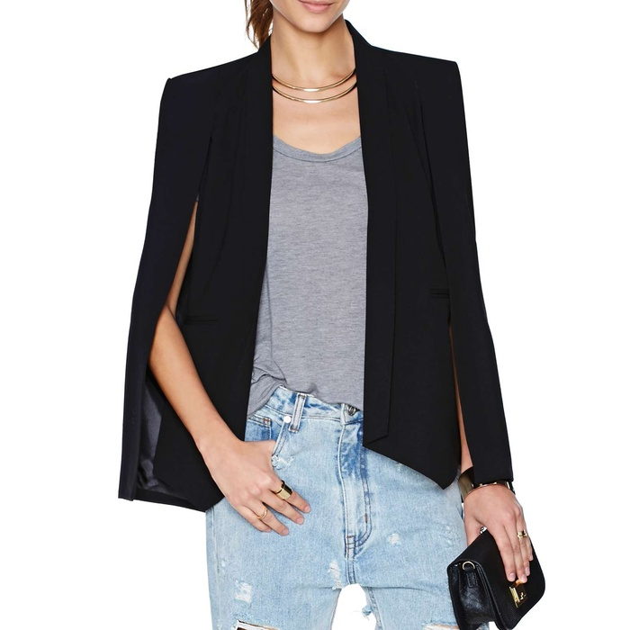 Best Cape Coats and Blazers - Nasty Gal Champagne Taste Cape Blazer