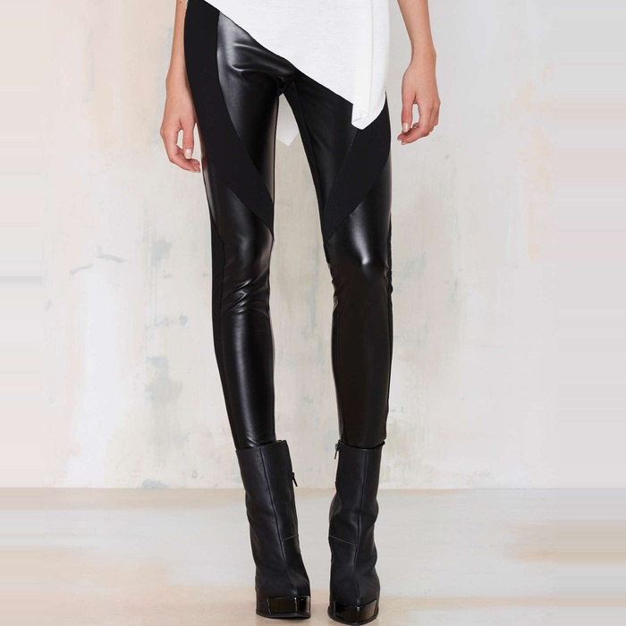 Best Faux Leather Leggings - Nasty Gal Faux Real Leggings