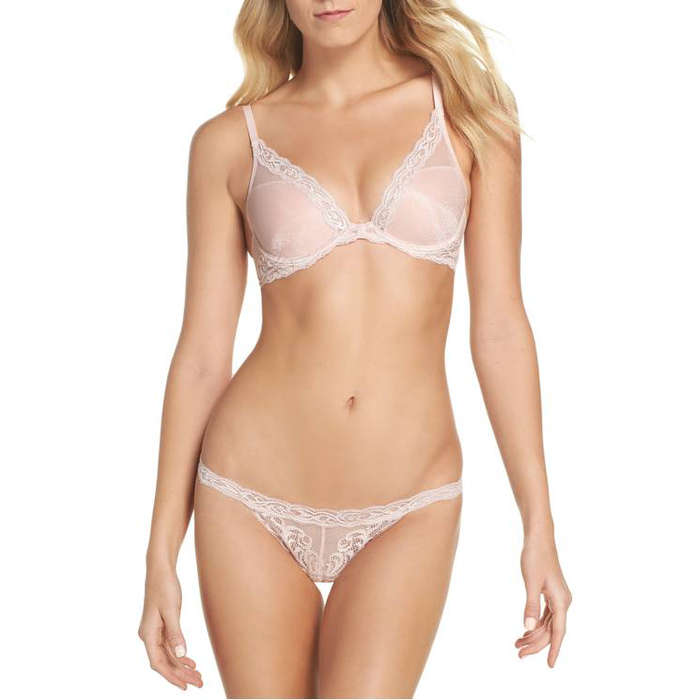 Best Lingerie Under $100 - Natori Feathers Contour Bra & Thong