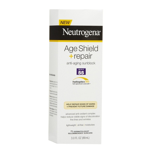 Best Facial Sunscreens - Neutrogena Age Shield Repair Sunblock Lotion SPF 55
