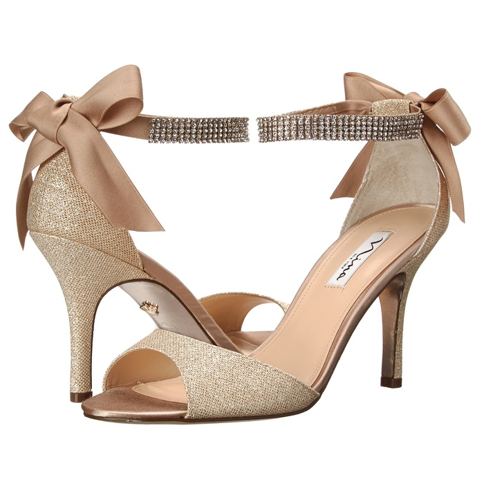Best Comfortable Heels Under $100 for Weddings - Nina Vinnie Two-Piece Evening Sandals