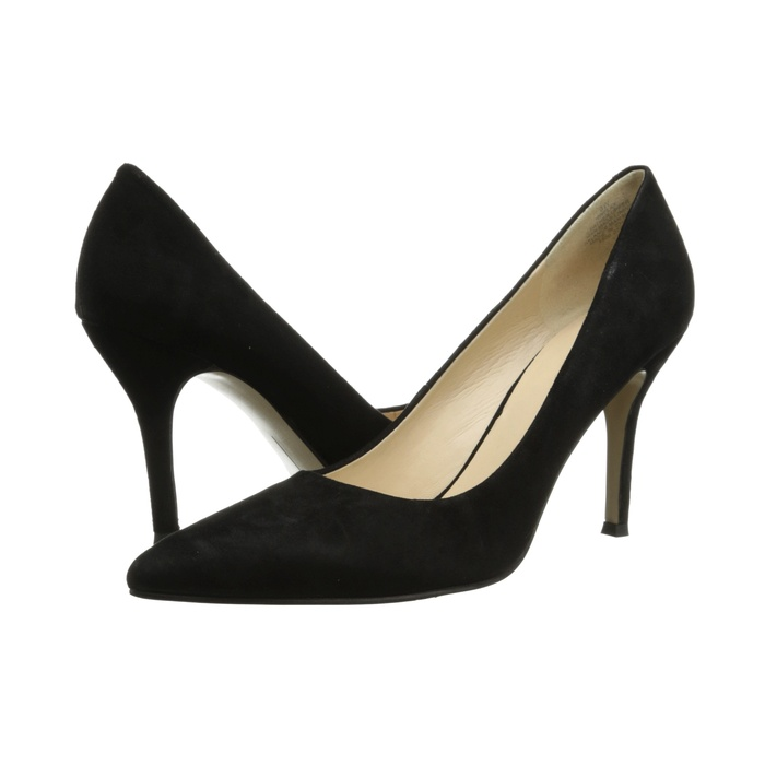 Best Black Suede Winter Pumps - Nine West Flax