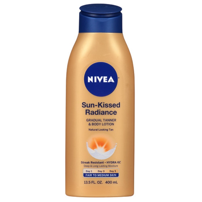 Best Self Tanners - Nivea Sun Kissed Radiance Gradual Tanner & Body Lotion, Fair to Medium