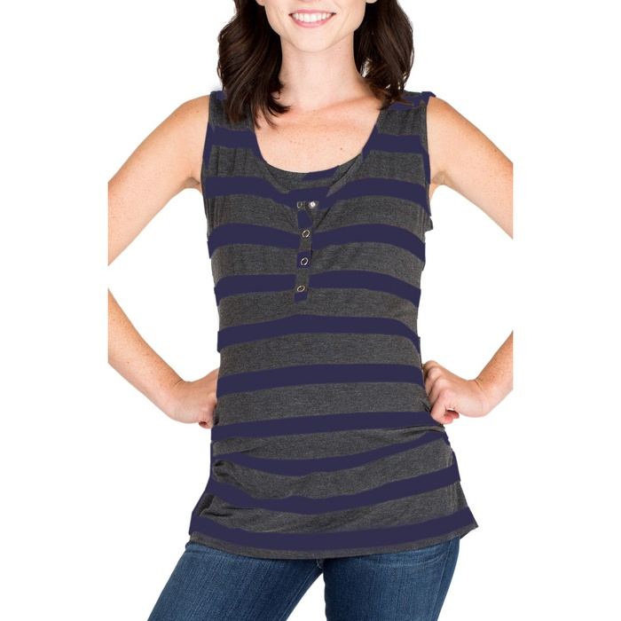 Best Nursing Tanks - Nom Maternity Henley Maternity Tank Top