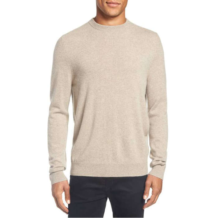Best Men's Cashmere Sweaters - Nordstrom Men's Shop Cashmere Crewneck Sweater