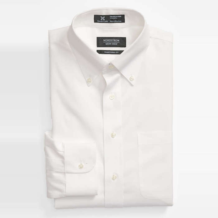 2c6a3aa432b Nordstrom Men s Shop Smartcare Traditional Fit Pinpoint Dress Shirt