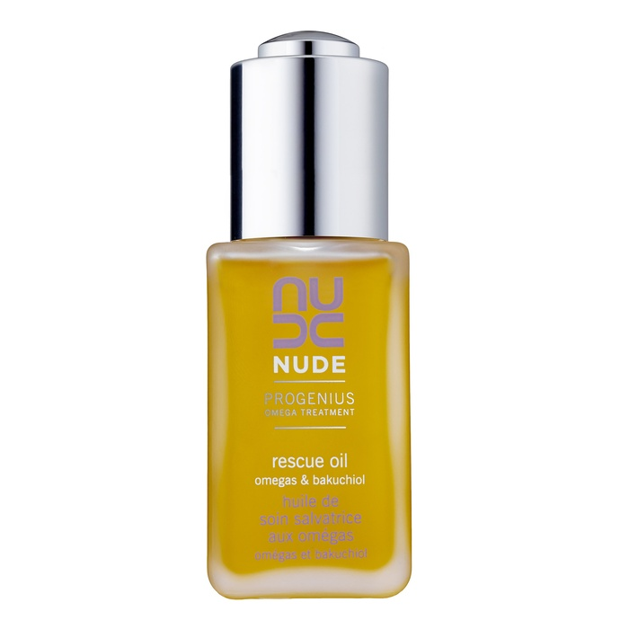 Best Anti Aging Face Oils - NUDE Skincare Progenius Omega Treatment Rescue Oil