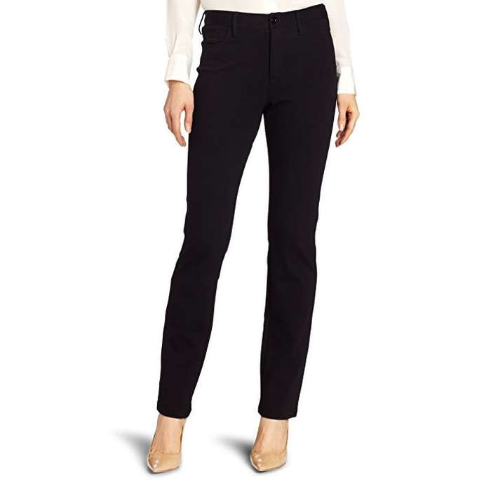 Best Black Work Pants - NYDJ Cindy Ponte Slim Leg Pant