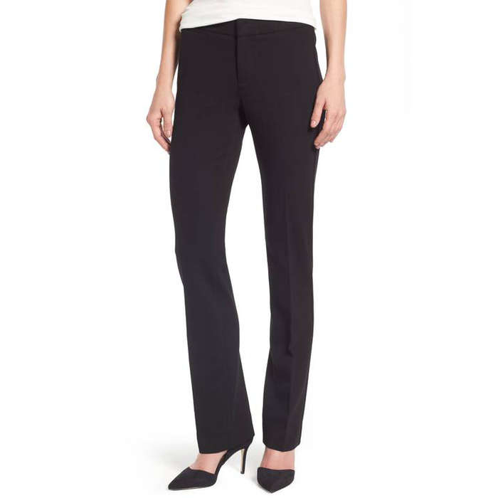 Best Petite Black Work Pants - NYDJ Stretch Knit Trousers