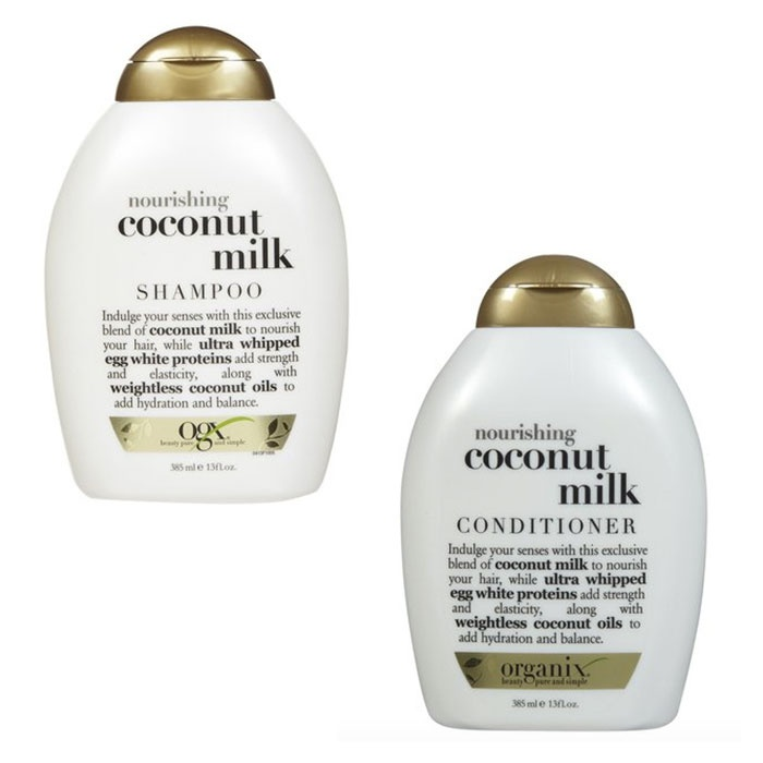 Best Drugstore Hair Products - OGX Coconut Milk Nourishing Shampoo and Conditioner