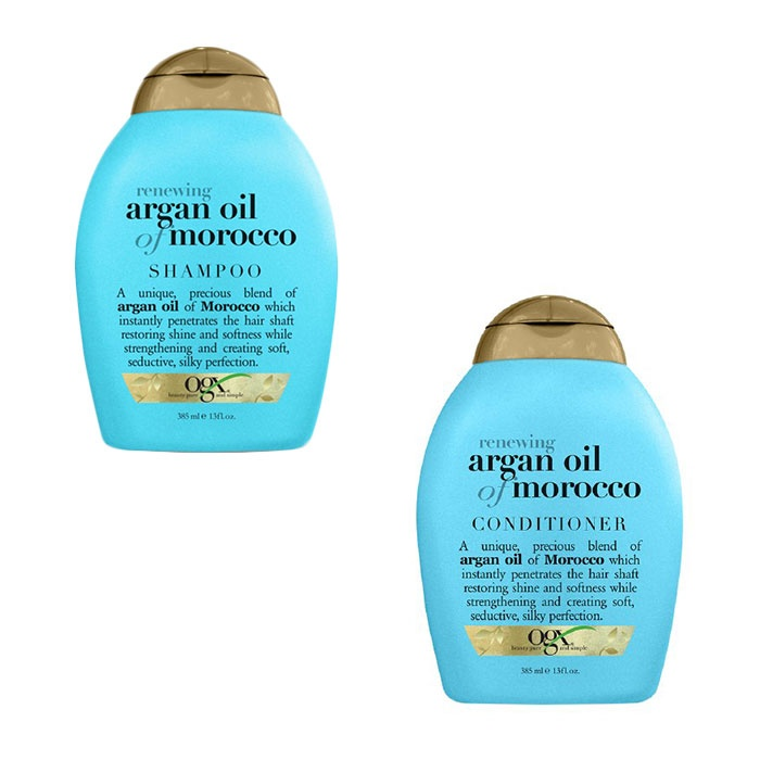 Best The Ten Best Argan Oil Products - OGX Renewing Moroccan Argan Oil Shampoo & Conditioner