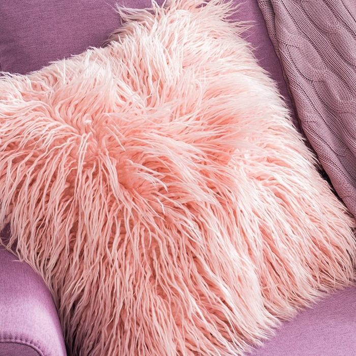 Best Throw Pillows Under $50 - Ojia Deluxe Home Decorative Super Soft Plush Mongolian Faux Fur Throw Pillow