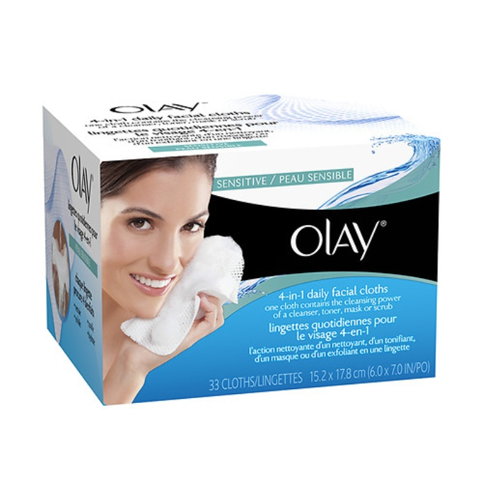 Best Facial Cleansing Towelettes - Olay 4-in-1 Daily Face WIpes Sensitive