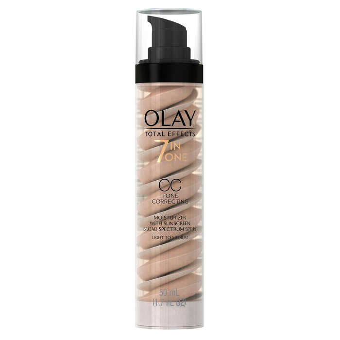 Best Drugstore Tinted Moisturizers - Olay Total Effects CC Cream Tone Correcting Moisturizer with Sunscreen