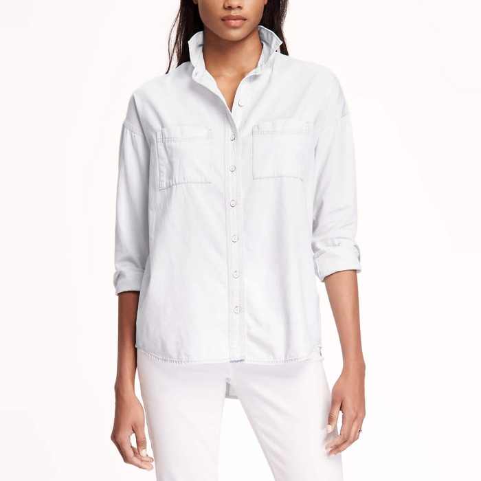 Best Boyfriend Button-Down Shirts - Old Navy Boyfriend Chambray Shirt for Women