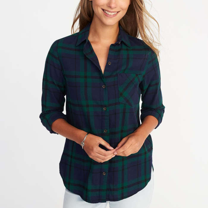 Best Apres Ski Essentials - Old Navy Classic Flannel Shirt for Women