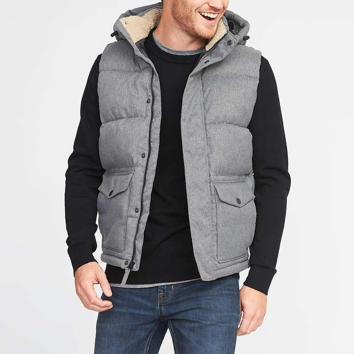 d545bb03aff Old Navy Detachable-Hood Frost-Free Puffer Vest