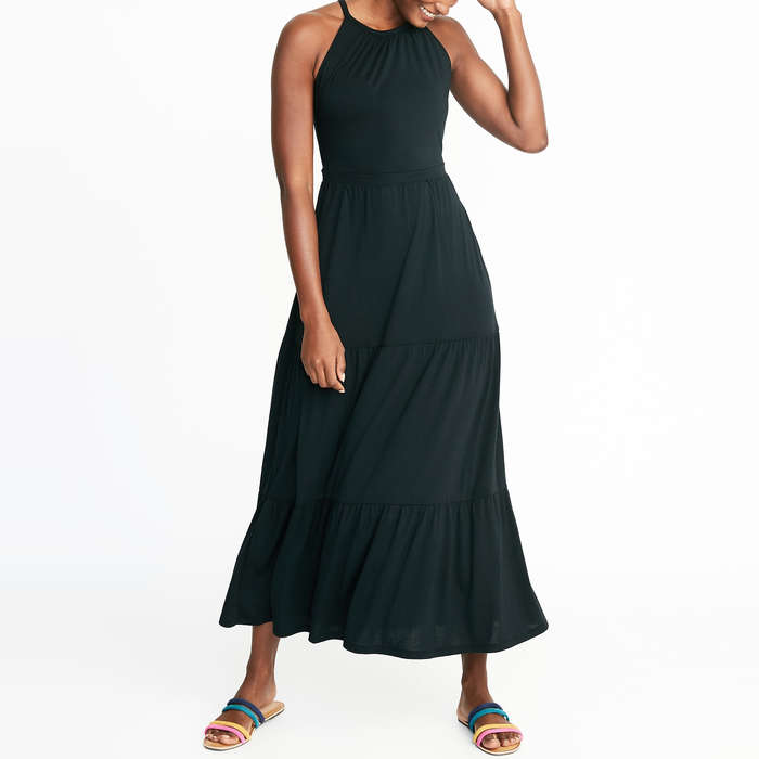 88c23577c40 Old Navy High-Neck Waist-Defined Maxi Dress