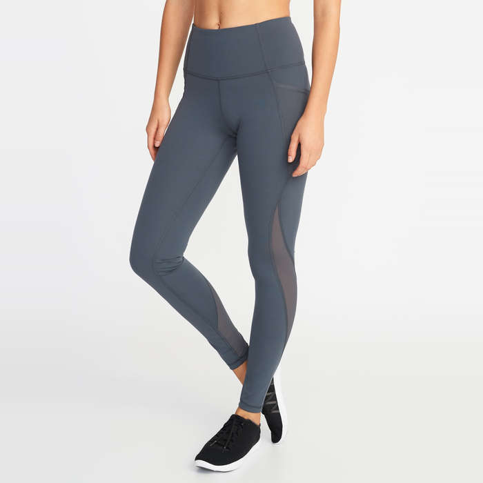 a1b6a3a2d5 Old Navy High-Rise Elevate Side-Pocket Mesh-Trim Compression Leggings
