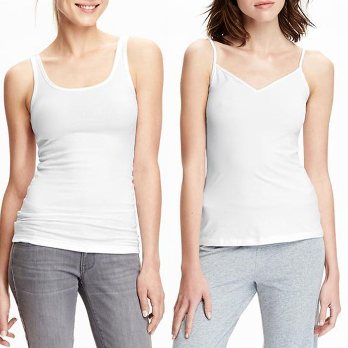 Best White Tank Tops - Old Navy Perfect Rib-Knit Tank & V-Neck Camis