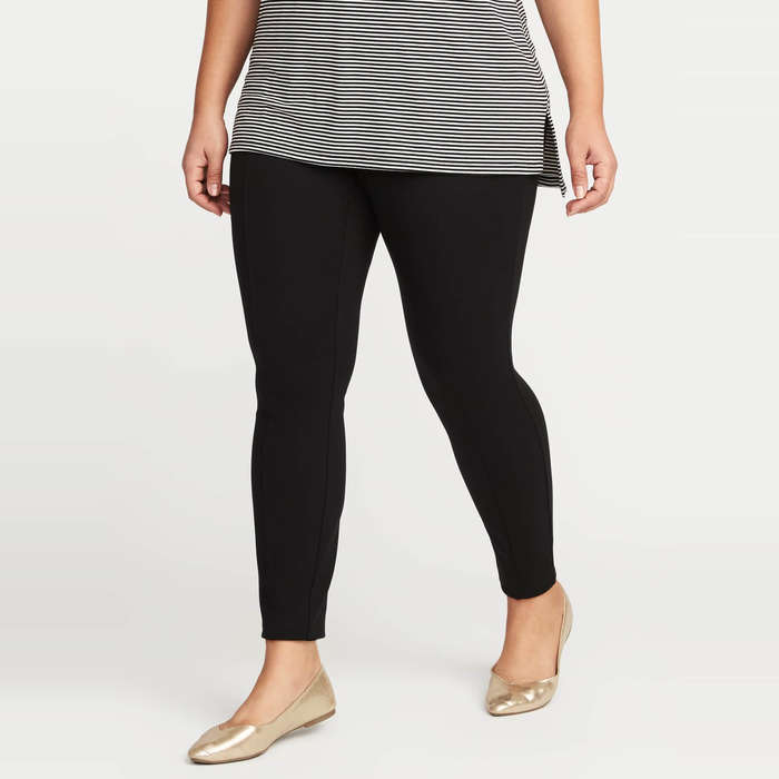 Best Plus Size and Curve Leggings - Old Navy Plus Size Ponte-Knit Stevie Pants