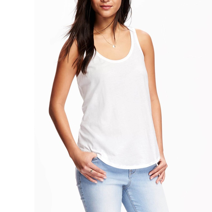 Best White Tank Tops - Old Navy Relaxed Racerback Scoop-Neck Tank