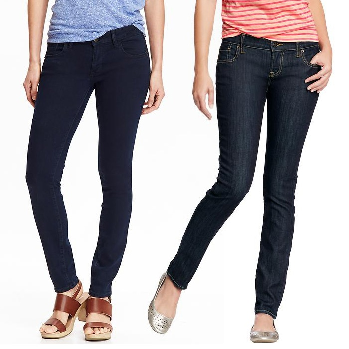Old Navy The Rockstar Super Skinny Jeans & The Diva Skinny Jeans ...