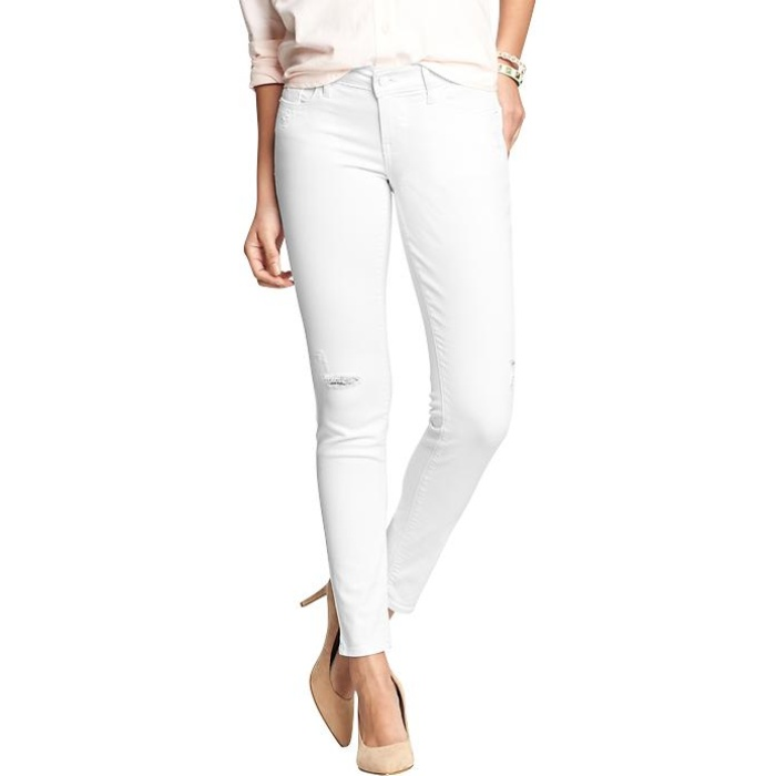Best Your Guide To This Summer's Best White Jeans - Old Navy Women's Low-Rise Rockstar Skinny Jeans in Bright White