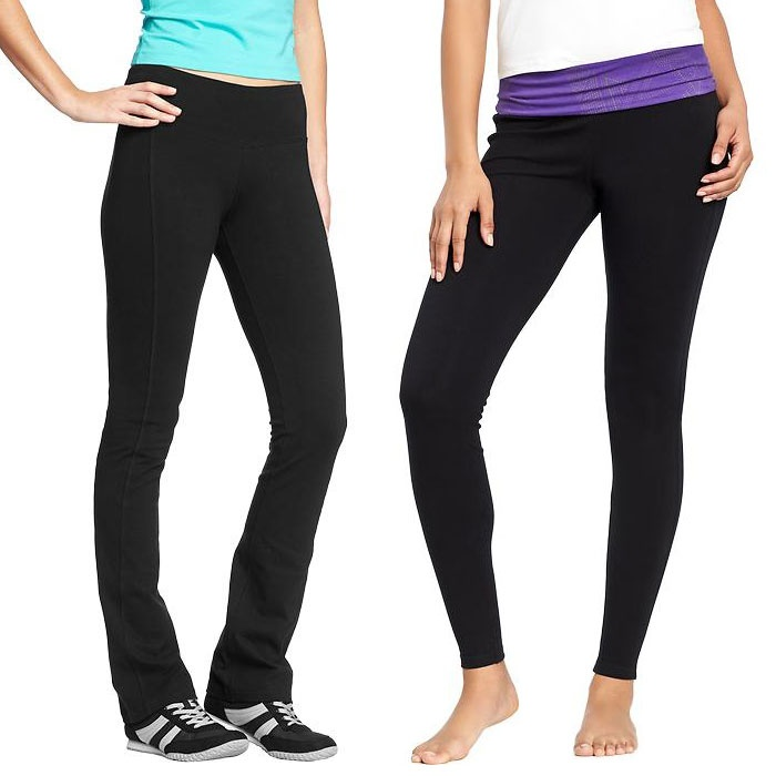 Best Yoga Pants Under $60 - Old Navy Women's Yoga Leggings and Women's Slim Boot-Cut Yoga Pants
