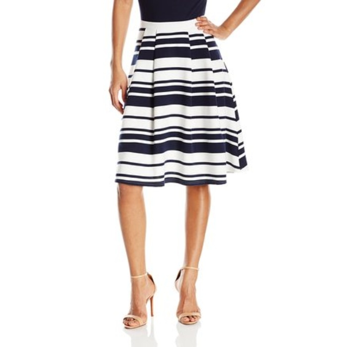 Best Midi Skirts Under $200 - Olive & Oak Striped Midi Skirt