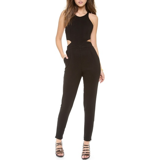 Best Black Sleeveless Jumpsuits - ONE by Hunter Bell Katie Jumpsuit