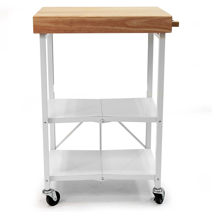 Best Bar Carts Under $200 - Origami RBT-04 Foldable Kitchen Island Cart