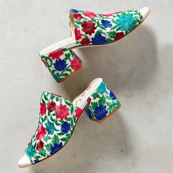 Best Embroidered Shoes - Ouigal Phoebe Mule Sandals
