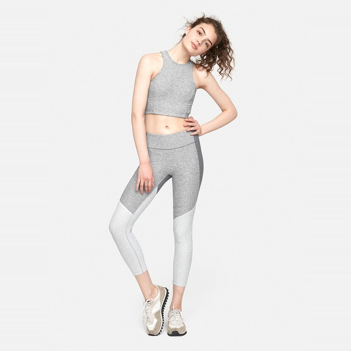 Best Cropped Workout Leggings - Outdoor Voices 3/4 Tri-Tone Warmup Legging