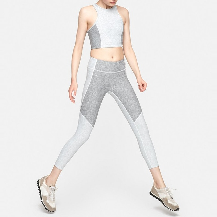 Best Yoga Pants Under $100 - Outdoor Voices 3/4 Two-Tone Warmup Legging