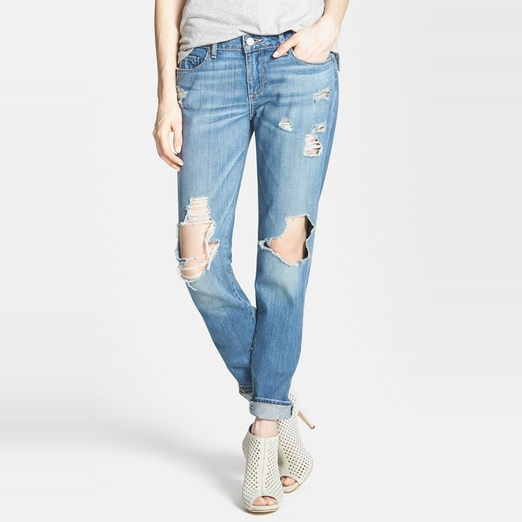 Paige Denim 'Jimmy Jimmy' Destroyed Boyfriend Jeans | Rank & Style