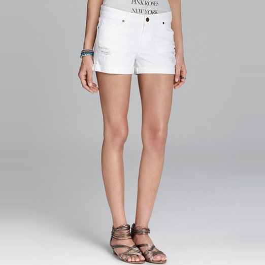 Best White Denim Shorts - Paige Denim Jimmy Jimmy Short in White Destruction