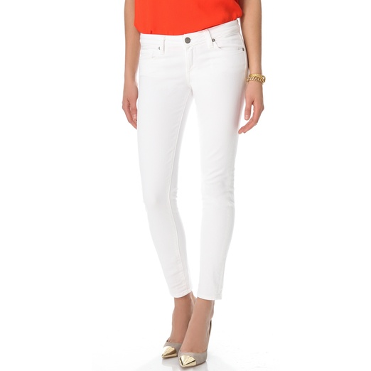 Best White Skinny Jeans - Paige Denim Skyline Ankle Skinny Jeans in Optic White
