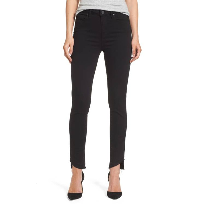 Best Fall Fashion Finds on Sale - Paige Transcend Hoxton High Waist Undone Hem Skinny Jeans