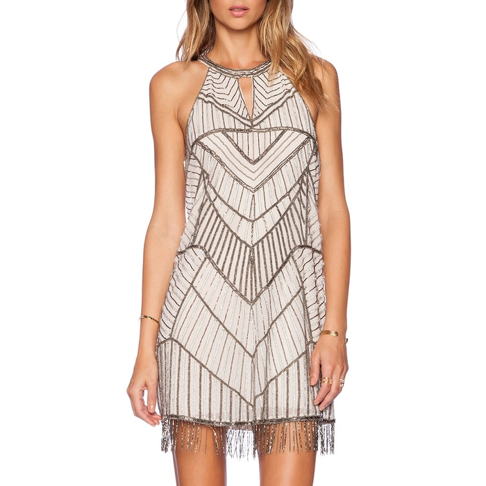 Best The Ten Best In Fringe Fashion - Parker Sansa Beaded Fringed Dress